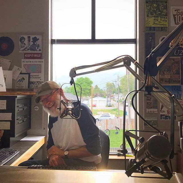 Craig Johnson, radio host in the studio - Missoula, MT