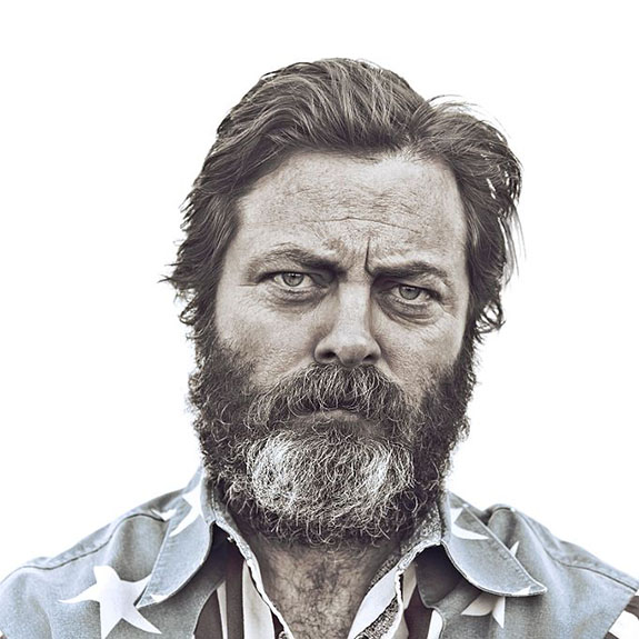 Nick Offerman, not Ron Swanson