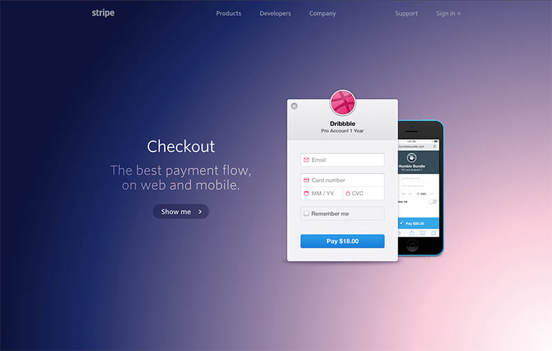 Stripe Checkout Landing Page