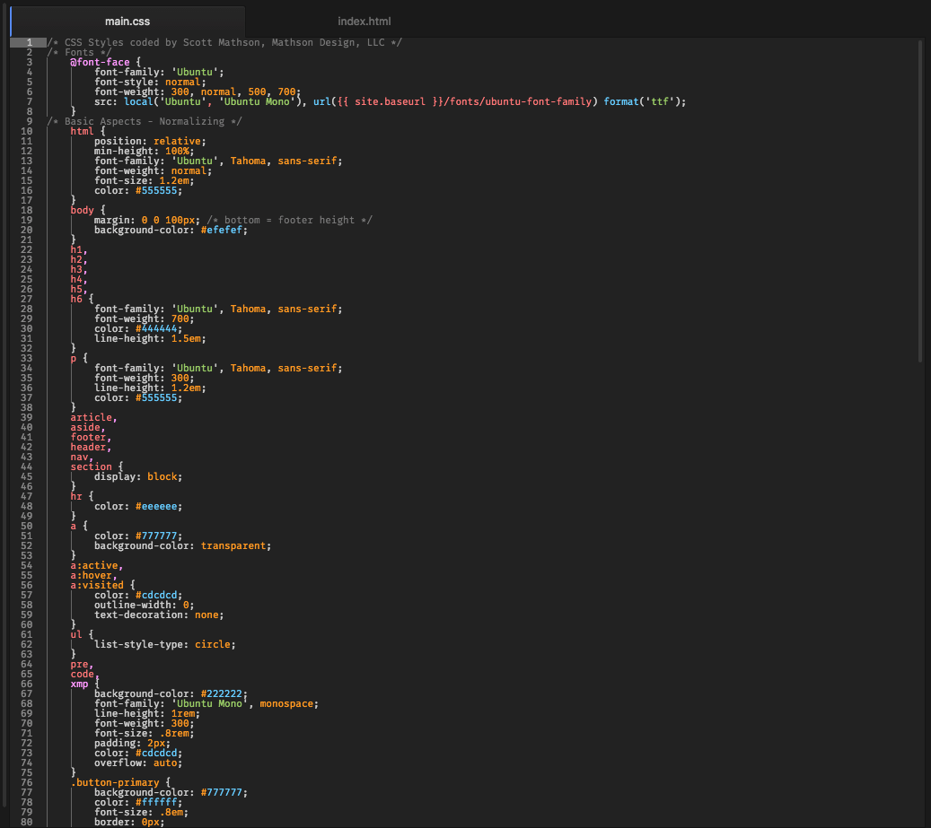 Crispy Realization Atom Syntax Theme screenshot